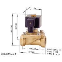 Busch Jost 8237000.9382.23049 2/2-Way Solenoid Diaphragm Valve G1/4 230V AC