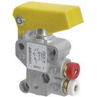 Univer AI-9350 Pneumatic Button Switch - 3/2 N/C 4mm Push Fit